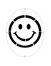 Трафарет Smiley face