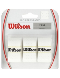 Намотка Wilson pro overgrip perforated white 3pack