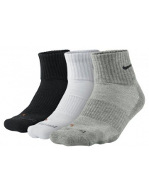 Носки Nike Dri-fit half cushion 3pairs black/grey/white