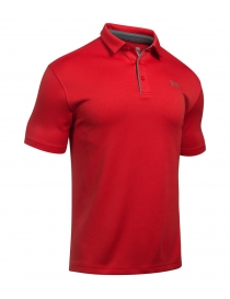 Поло муж. Under Armour tech polo red