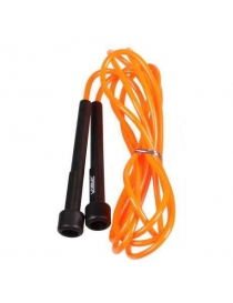 Скакалка тубус PVC JUMP ROPE black+orange