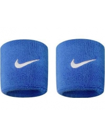 Напульсники Nike swoosh wristbands royal blue/white