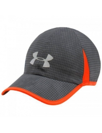 Кепка Under Armour mens shadow cap 4.0 grey/orange