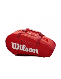 Чехол Wilson Super Tour 2 Compartment Large Tennis Bag Red 2019