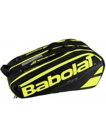 Чехол Babolat RH X 12 Pure black/fluo yellow