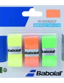 Намотка Babolat My overgrip X 3 orange/green/fluo yellow