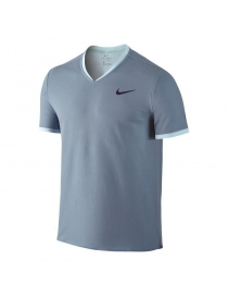 Футболка Nike RF NK Dry top SS Vneck light-blue