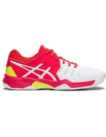 Кроссовки детские Asics Gel-Resolution 7 Clay white/pink
