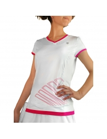 Футболка Детская K-Swiss Girls Big shot capsleeve white/pink
