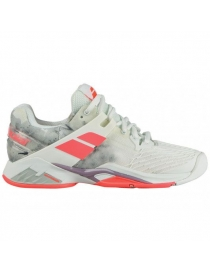 Кроссовки женские Babolat Propulse Fury All Court white/fluo strike