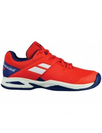 Кроссовки детские Babolat Propulse Clay Junior bright red/estate blue