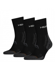 Носки Head Performance Short Crew 3-pack black/gray