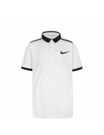 Поло Nike ADV solid white/black