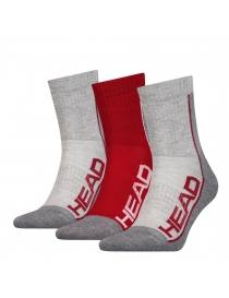 Носки Head Performance Short Crew 3-pack gray/red
