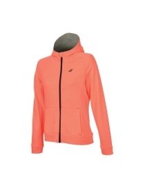 Толстовка детская Babolat Core Hood Sweat girl fluo strike heather