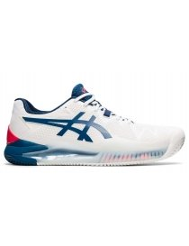 Кроссовки мужские Asics Gel-resolution 8 clay white/navy