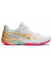 Кроссовки женские Asics Solution Speed FF 2 clay LE white/champagne